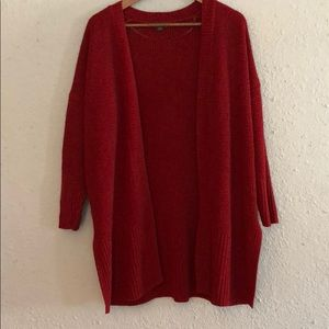 Wild Fable large red knit cardigan